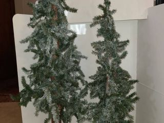 2 Christmas trees 49 inches and 37 inches