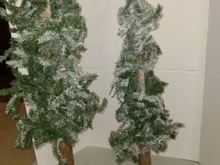 2 Christmas trees 49 inches and 35 inches