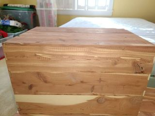 RAW Cedar Box  11 x 18 x 12  NOT a hinged lid