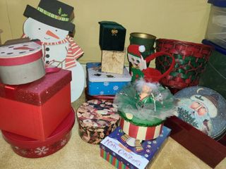 CHRISTMAS TINS  and BOXES
