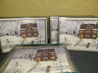CHRISTMAS CARDS 18 pc per box  4 boxes  one has been opened