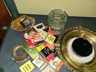 ASH TRAYS And MATCHES