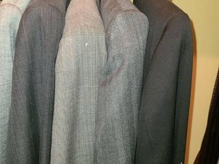 Mens Suits and a Jacket  Pants are 34 or 36  30  Jackets are Med  or large  Also comes with TIES