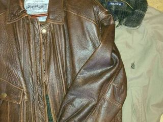 Mens Coats  one is leather size Med  and the other is a large