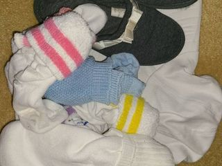 ladies Hat and Socks and pair of slippers  size med