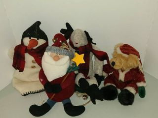 Assorted Christmas stuffed toys