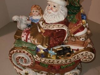 FITZ AND FlOYD SANTA Cookie Jar