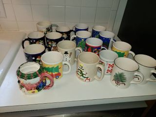 Variety of Christmas Mugs and other mugs