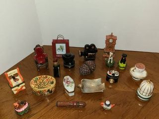 17 pc  Trinket Boxes  and other items