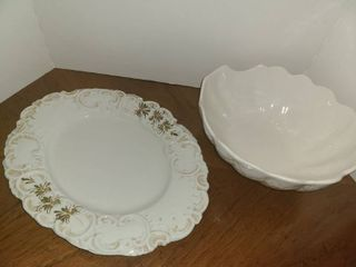 Serving Bowl and Platter  Both are made in Italy