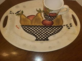 Over and Back Platter with Coffee Mug