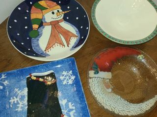 Christmas Decor  Platters and Bowls