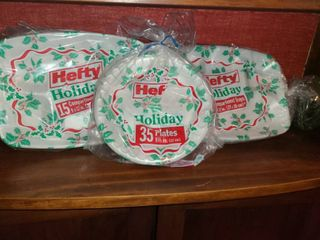 Holiday Styrofoam Plates