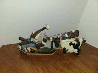 WIllIRAE STUDIO  Santa Sled with Cow