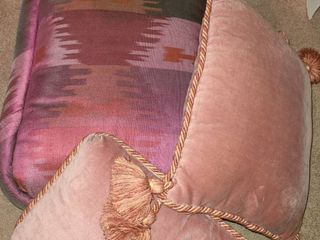 4 Rose Colored Throw Pillows
