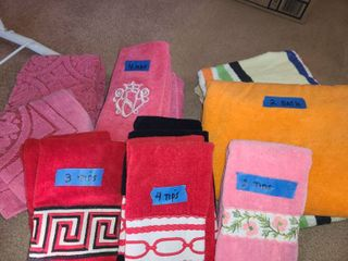 BATH TOWElS  and FINGER TIP TOWElS