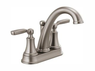 Delta Woodhurst 4 in  Centerset 2 Handle Bathroom Faucet in Stainless