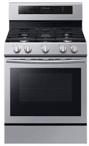 Samsung   5 8 Cu  Ft  Self cleaning Freestanding Gas Convection Range