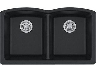 ElG120ONY Ellipse Series Undermount Double Bowl Granite Sink in