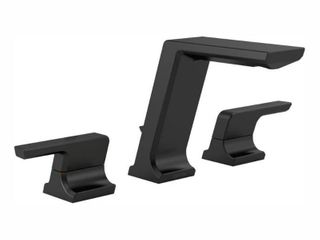 Delta Pivotal Two Handle Widespread Bathroom Faucet  Matte Black