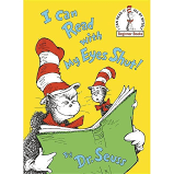 I Can Read with My Eyes Shut   Beginner Books   Hardcover  by Dr  Seuss RETAIl  9 99