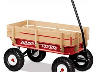 Radio Flyer All Terrain Steel   Wood Wagon RETAIl 149 00