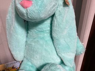 Giant Bunny Rabbit Plush Grey Stuffed Animal Adventure Soft 28  Tall RETAIl 13 00