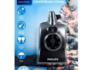 Philips Dusk to Dawn Countdown Timer Outdoor 8 6 4 2hr 2 Outlet Grounded RETAIl  12 99