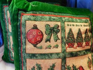 Pair of large Christmas Pillows