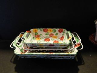 Baking Dishes w  Carrying Baskets