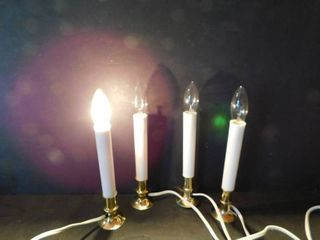 Set of 4 Electric Holiday Candles