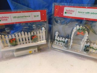 Holiday Village Fence Accessories  NEW