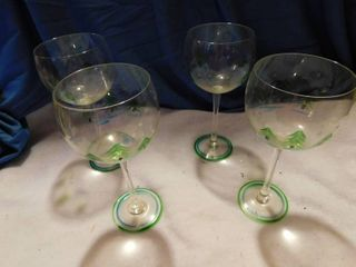 4 Holiday Goblets