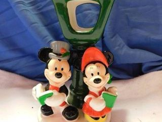 Mickey   Minnie Ceramic Candle Holder