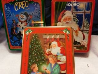 Oreo Cookie Holiday Tins  Empty