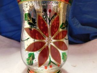 Poinsetta Candle Holder