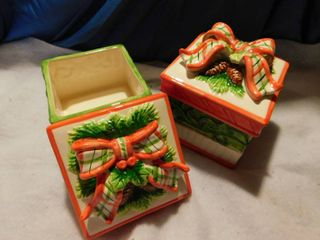 Christmas Ceramic Canisters