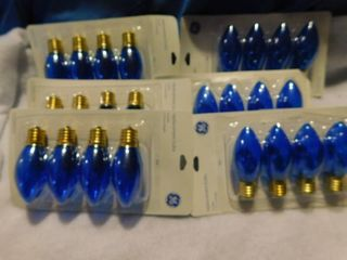 6 New Packages of Blue Christmas Bulbs