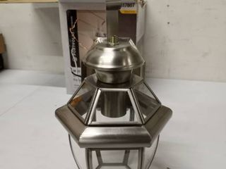 portfolio outdoor wall lantern stainless steel finish