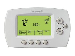 Honeywell Home   7 Day Programmable Thermostat with Wi Fi Capability   White