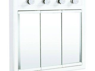 Design House 532382 Concord lighted Medicine Cabinet Mirror 30 in   White