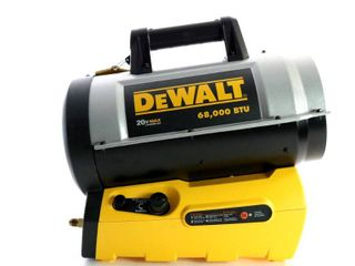 DeWalt F340661 68 000 BTU Portable Jobsite Cordless Forced Air Propane Heater