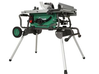 Metabo hpt C10rjsm 15 amp 10  Jobsite Table Saw W fold And Roll Stand