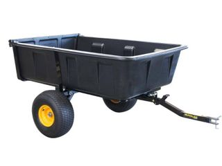 Polar 10 cu ft plastic dump cart makes it easier to give your yard a makeover