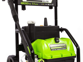 Greenworks 1800 PSI electric pressure washer 1 1 gallon per minute