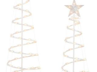 holiday living 2 piece lighted spiral tree set 020 1276