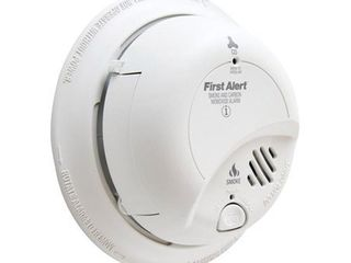 First Alert SC9120B6CP Electrochemical Smoke   Carbon Monoxide Alarm  120 Volts