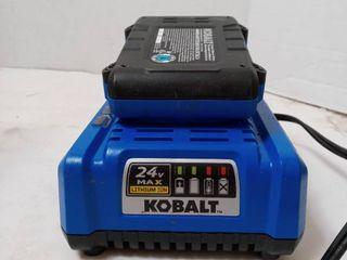 Kobalt 24v Max lithium Ion Battery and Charging Base