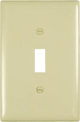 Pass   Seymour TPJ1ICC70 1 Gang 1 Toggle Opening Wall Plate  Nylon  Ivory
