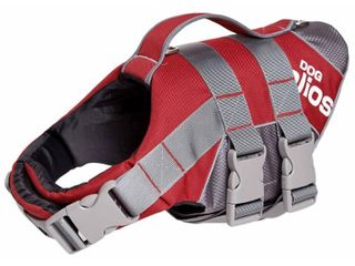 Helios Splash Explore Outer Performance 3M Reflective and Adjustable Buoyant Dog Harness and life Jacket  Color  Red